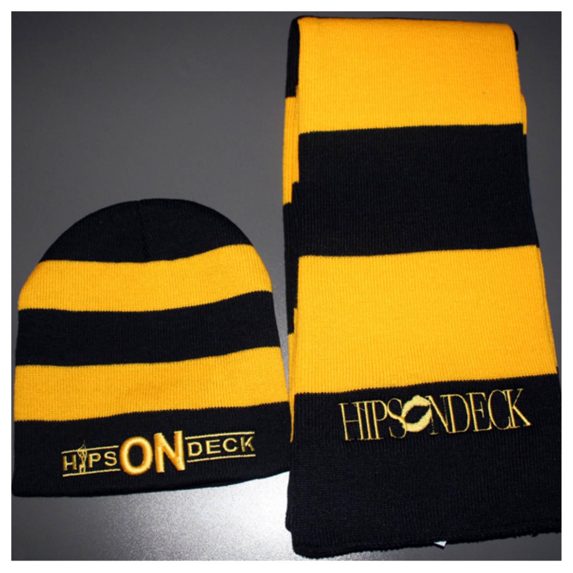 Yellow/Black (Beanie & Scarf)