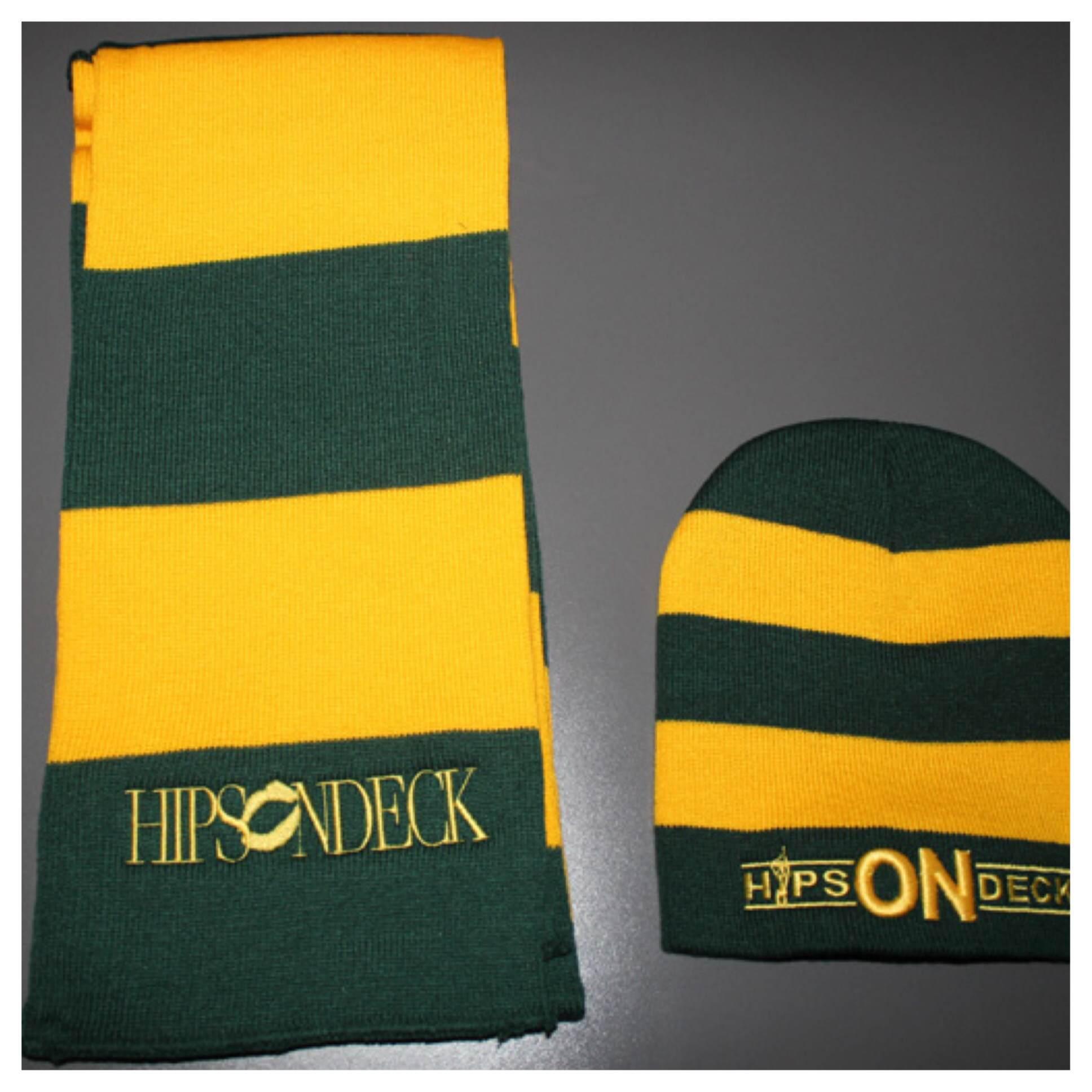 Yellow/Green (Beanie & Scarf)